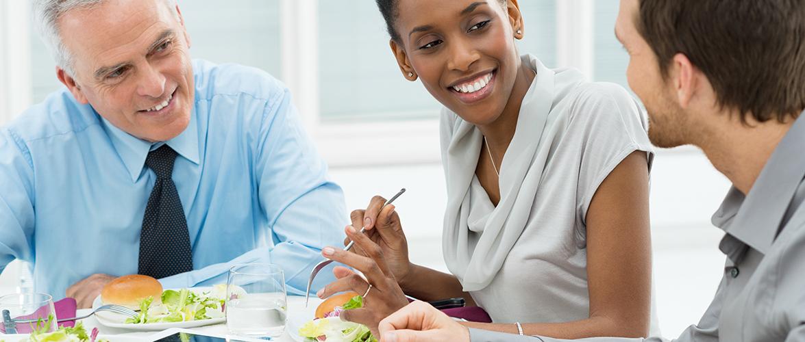 Restaurants pour affaires : faire le choix de manger sainement!