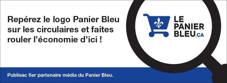 Publisac fier partenaire média du Panier Bleu