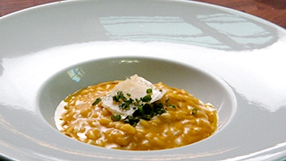 Recette automnale : risotto à la purée de courge